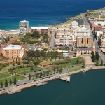 Futura Groups new office location displayed on aerial image of Newcastle